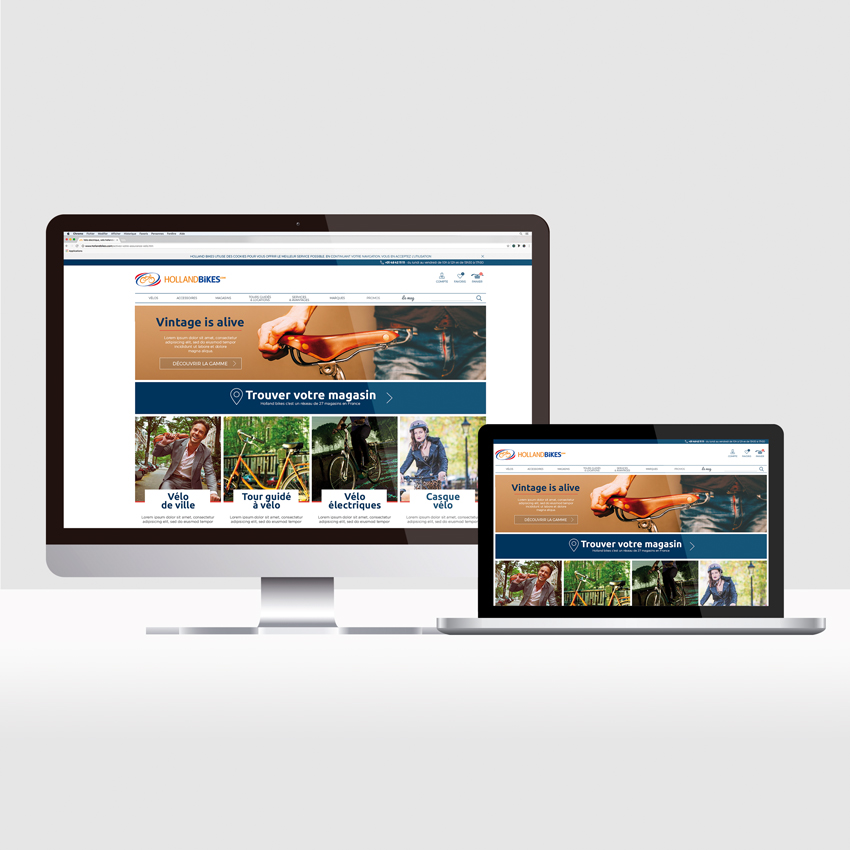 Holland bikes – site e-commerce