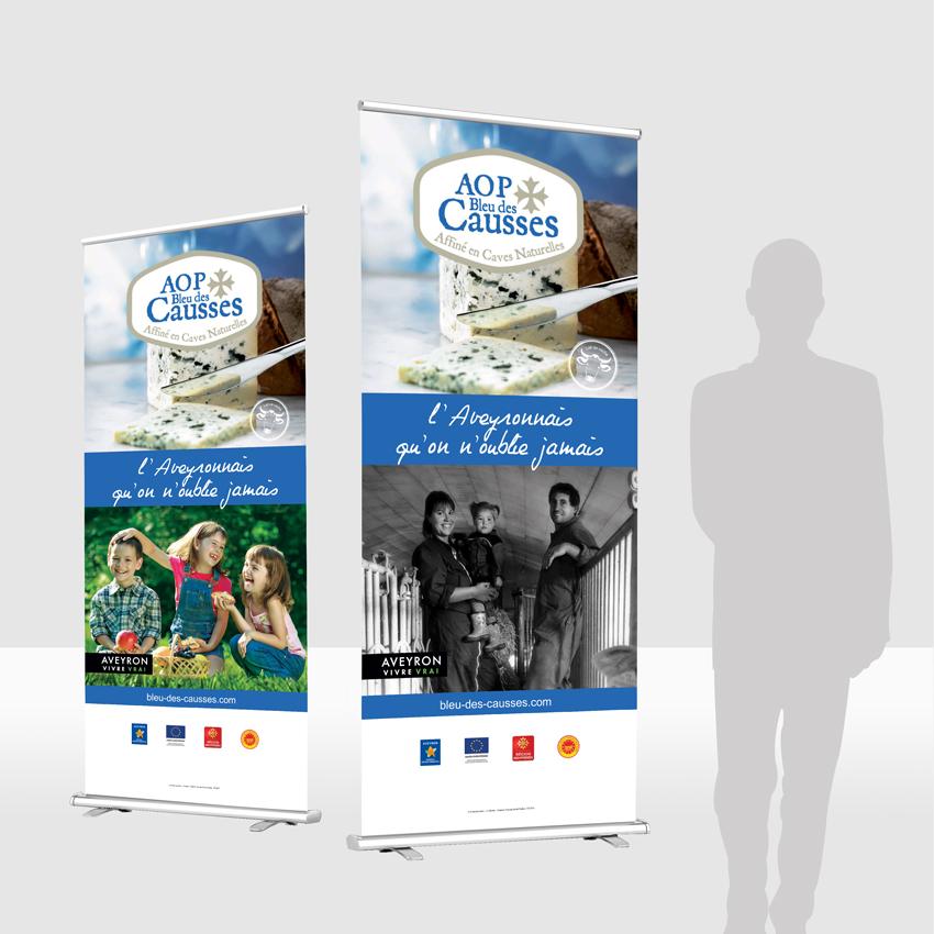 AOP bleu des causses – Supports d'aide à la vente