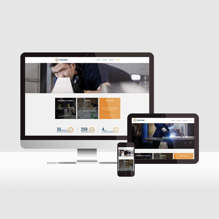 Eratome - Création du site web
