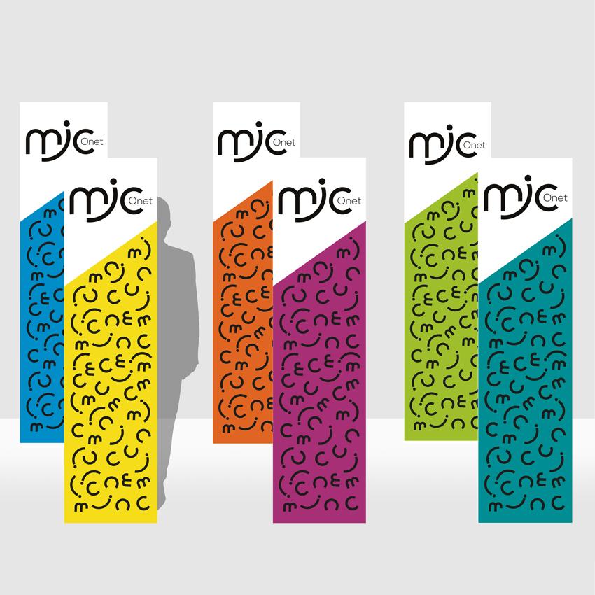 MJC Onet - Totem avec nouveau logo