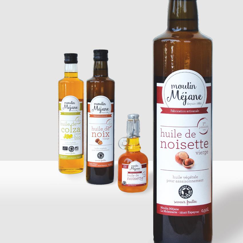 Moulin Méjane – Etiquettes des produits