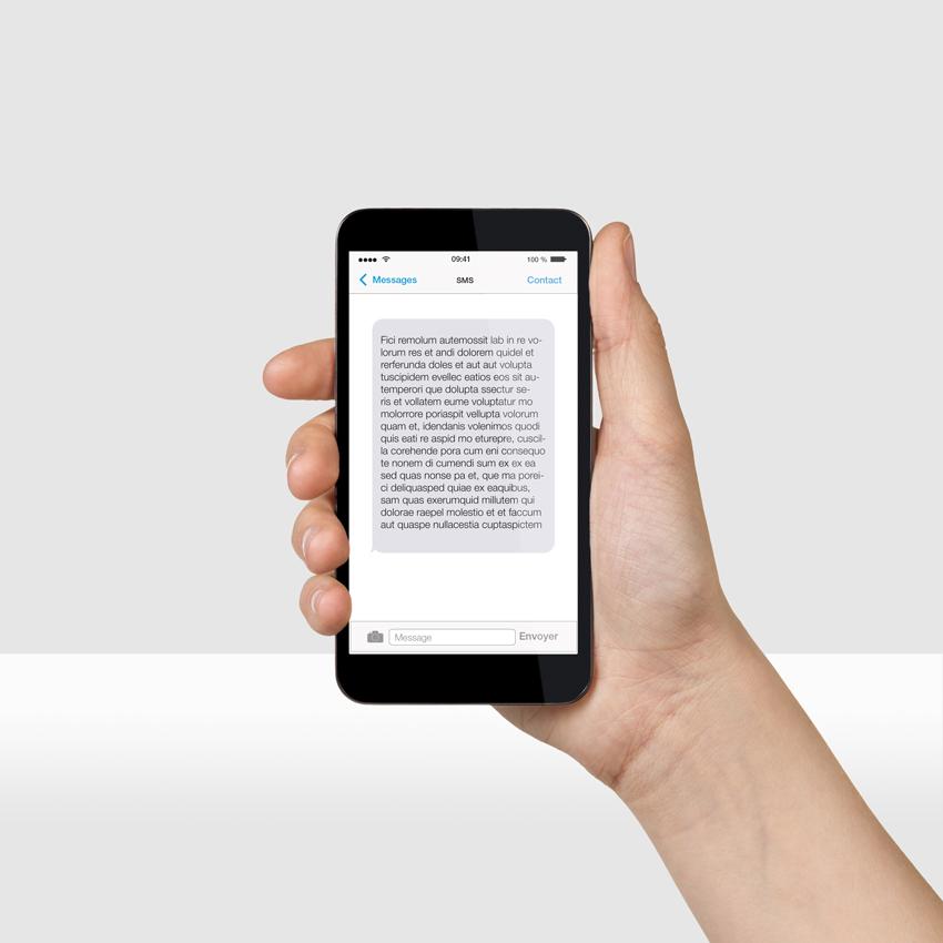 V&B - envoi de SMS