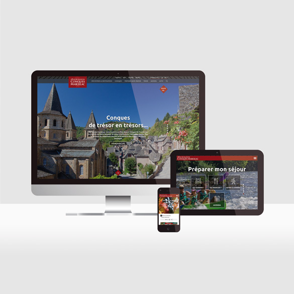 Office de tourisme de Conques-Marcillac - site web