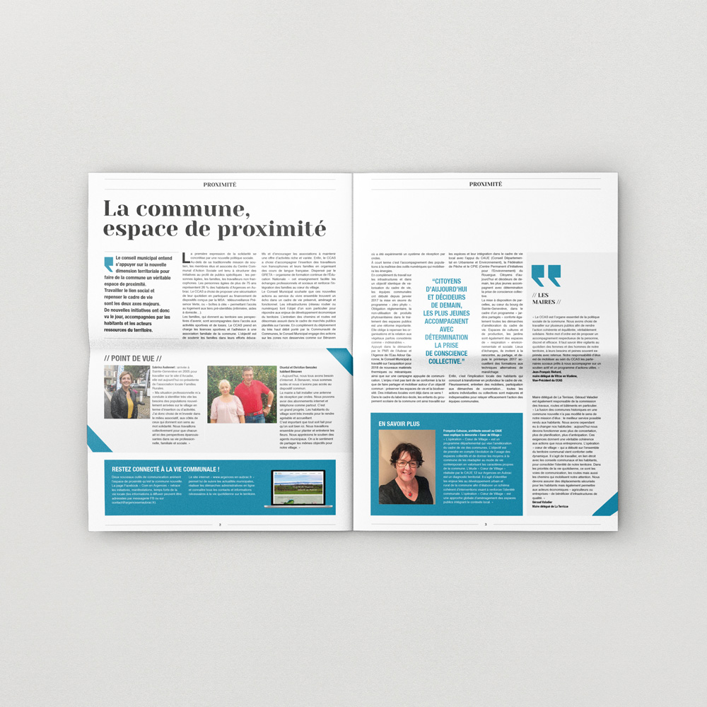 Journal de la commune Argences-en-Aubrac, pages intérieures