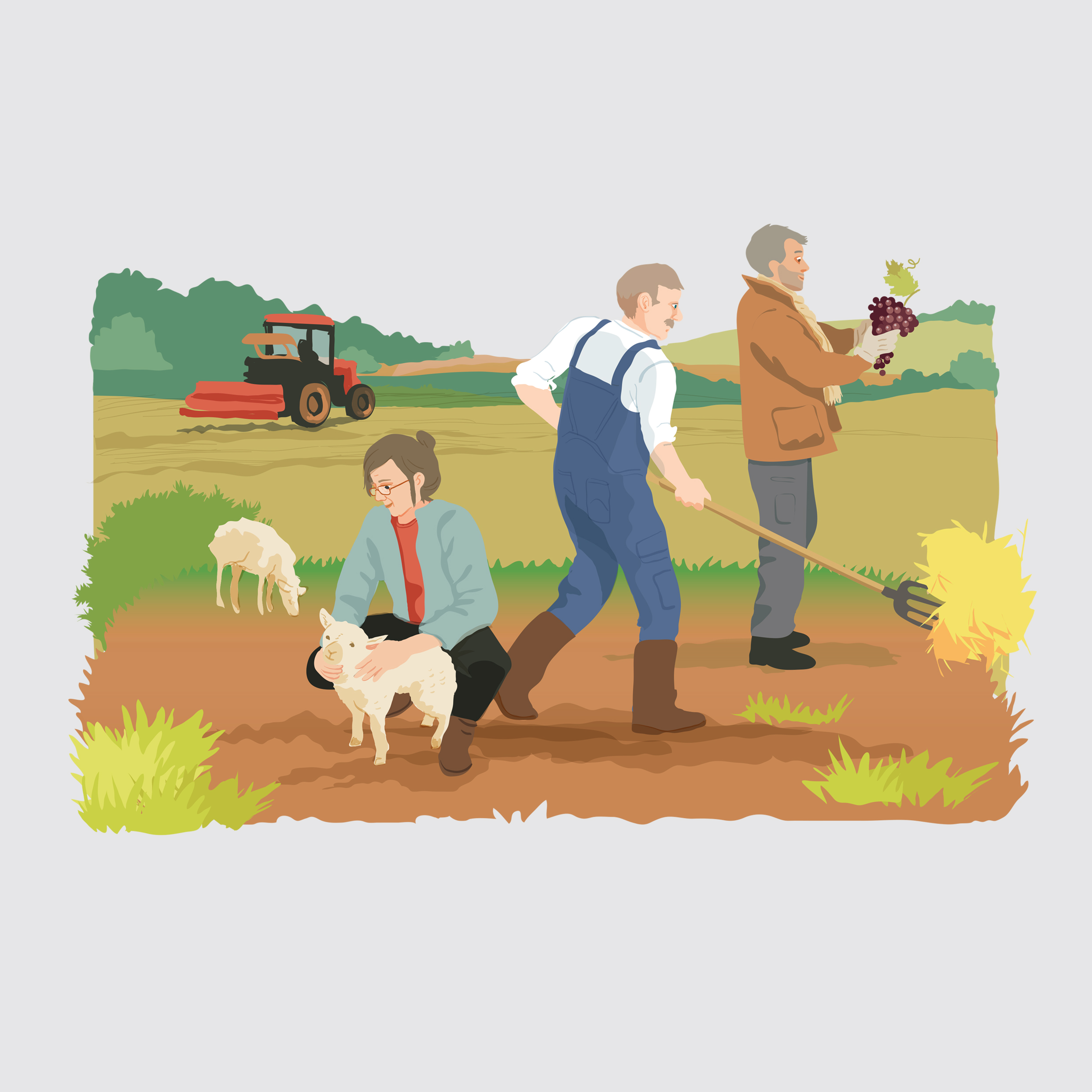 Unicor - illustration agriculteurs