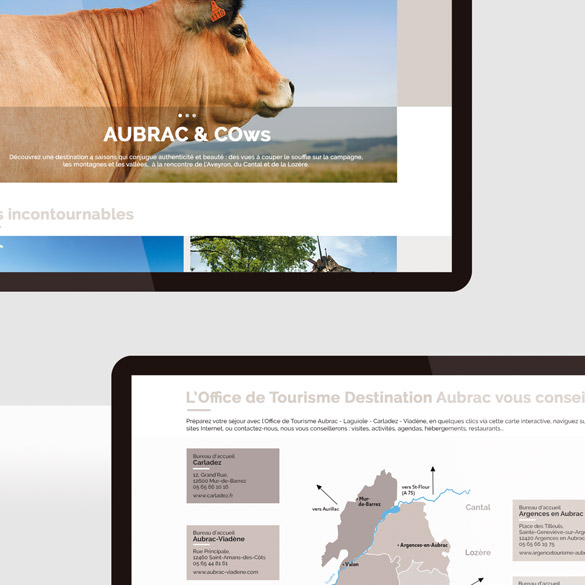 Destination Aubrac – site web
