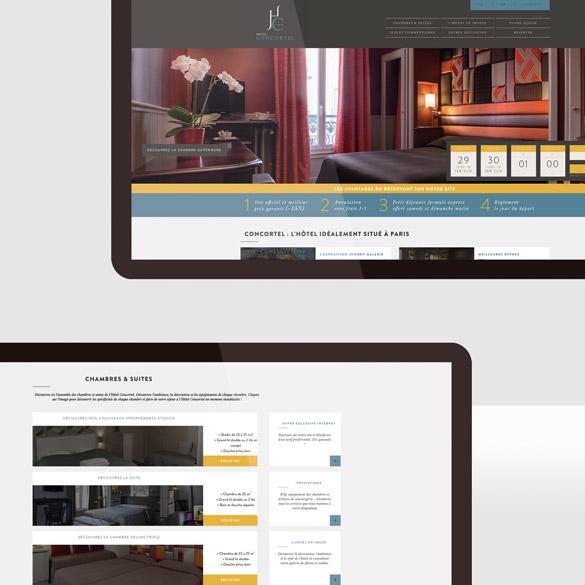 Hôtel Concortel – site web