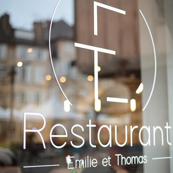 Restaurant ET – logo et nom