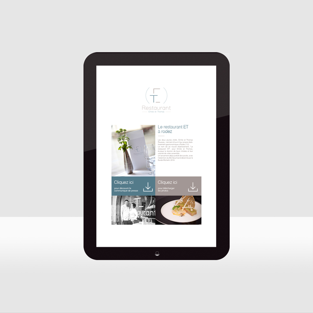 Restaurant ET - e-mailing