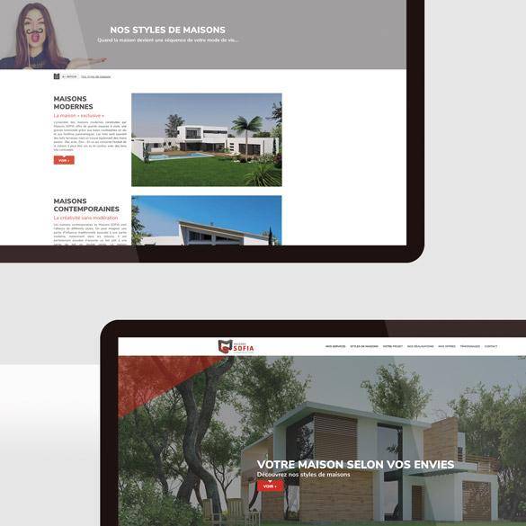 Site web des Maisons Sofia