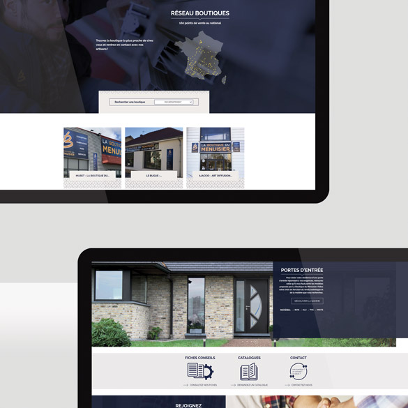 Site portail de la boutique du menuisier