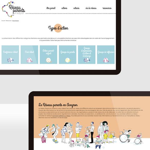 Site web de Réseau Parents Aveyron
