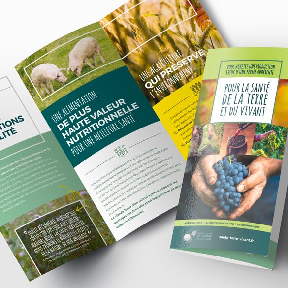 Création de dépliants sur agriculteurs producteurs de vins