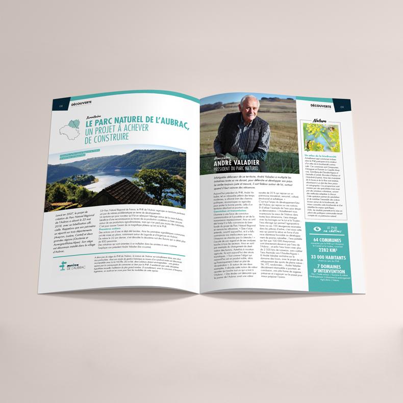 Pages intérieures de l'Aveyron Magazine